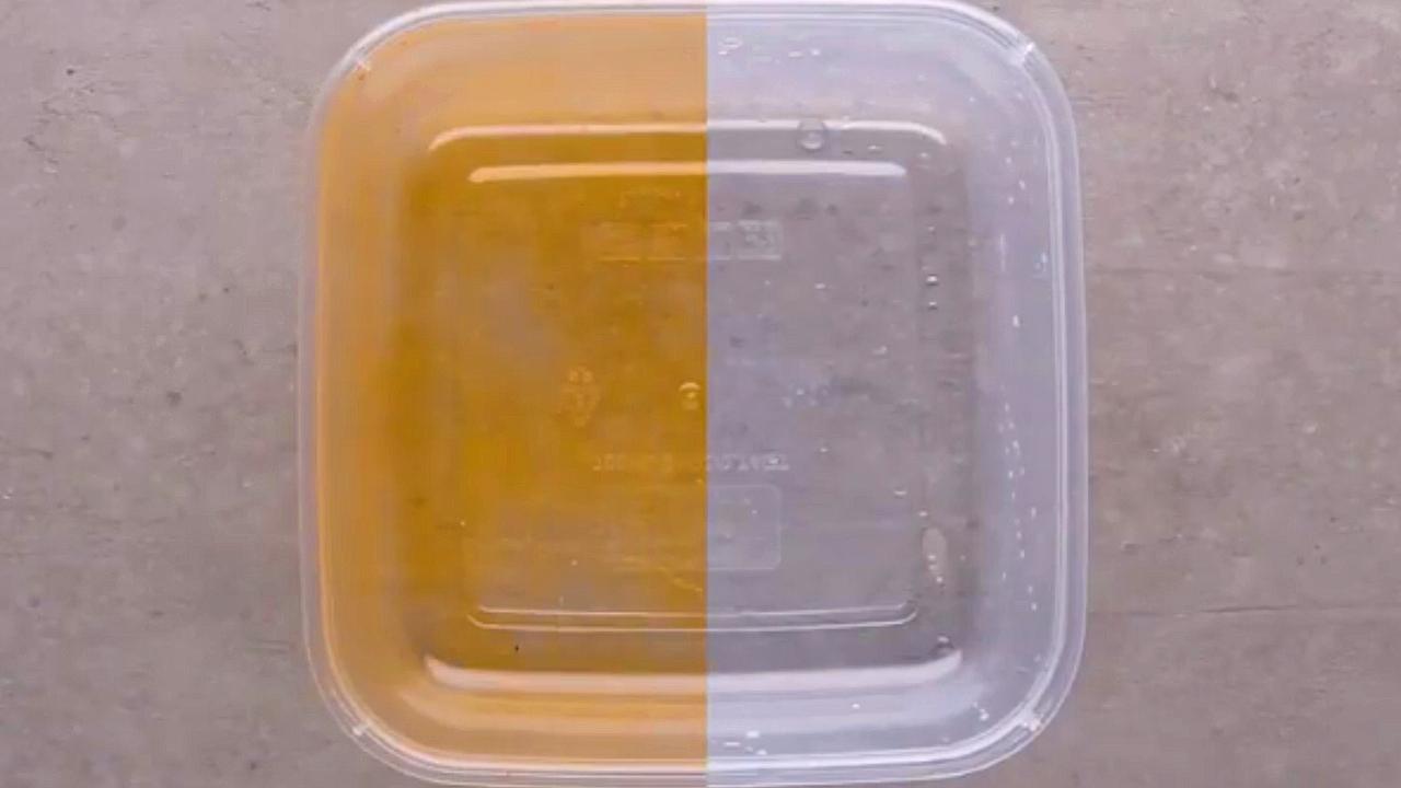 récipient en plastique tache de nourriture